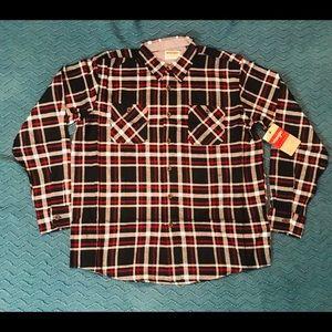 Wrangler Button Down Flannel Shirt Men Size Large